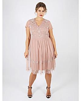 Lovedrobe Luxe Mauve Embellished Dress