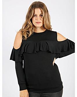 Koko black cold shoulder jumper