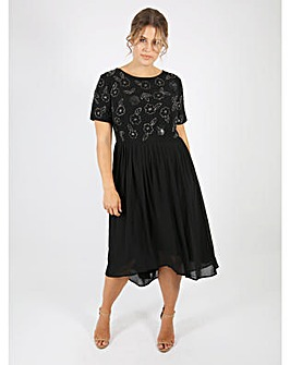 Lovedrobe Luxe Black Embellished Dress