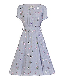Lindy Bop Bretta Lilac Floral Tea Dress
