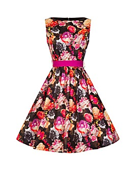 Lindy Bop Audrey Floral Swing Dress