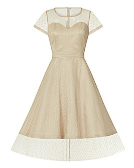 Lindy Bop Leona Almond Occasion Dress