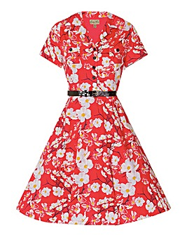 Lindy Bop Lilith Dogwood Tea Dress