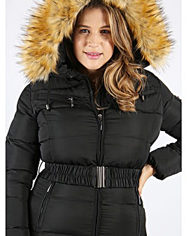 Lovedrobe Long Belted Puffer Jacket