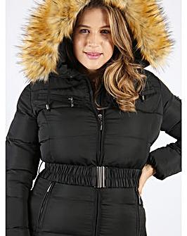 Lovedrobe Long Belted Puffer Jacket
