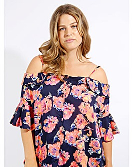Koko floral print off shoulder blouse