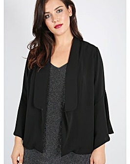 Lovedrobe GB Black Bell Sleeve Jacket