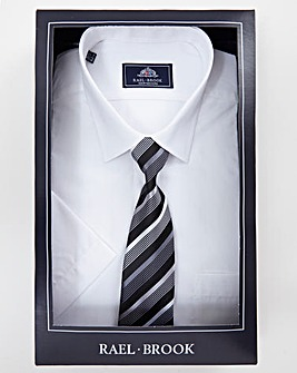 Rael Brook Boxed S/S Shirt And Tie Set