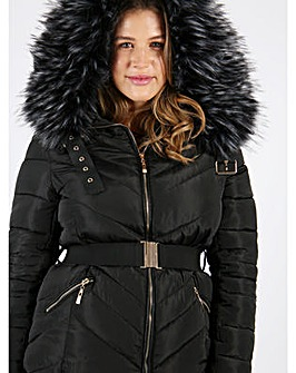 Lovedrobe Black Jacket With Fur Trim