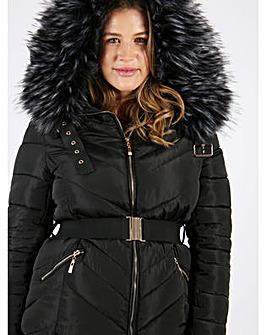 Lovedrobe Black Jacket With Fur Trim