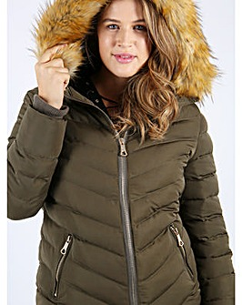 Lovedrobe Diagonally Quilted Jacket