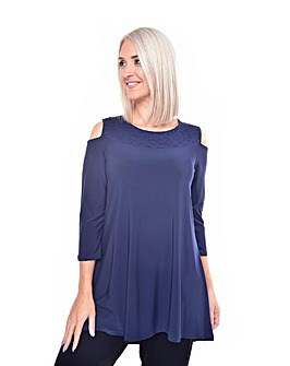 Grace cold shoulder tunic with lace