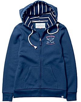 Brakeburn Nautical Zip Through Hoody