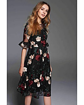 Gina Bacconi Celia Embroidery Dress