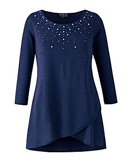 Grace knit tunic with stud detail