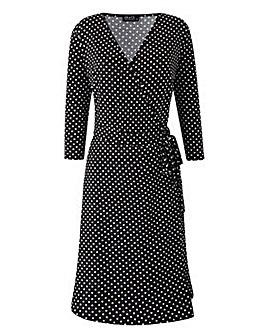Grace Made in Britain polka wrap dress