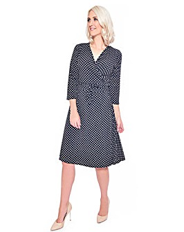 Grace Made in Britain polka wrap dress
