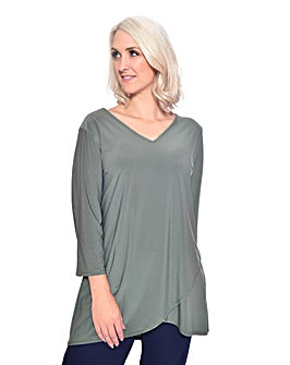 Grace tulip hem tunic with open sleeve