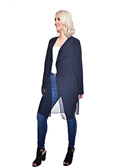 Grace chiffon blend coatigan