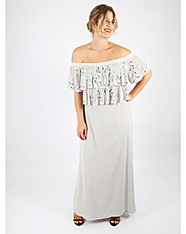 Lovedrobe Luxe Bardot Maxi Dress