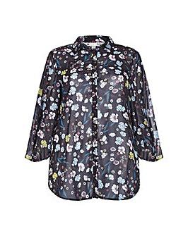Yumi Curves Nouveau Floral Tunic Top