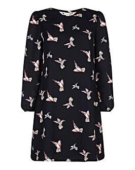 Yumi Curves Hummingbird Print Tunic