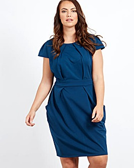 Blue Vanilla Curve Pleated Tulip Dress