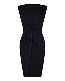 Mela London Curve Wrapped Watrefall Dres