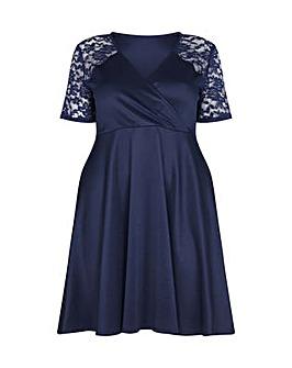 Mela London Curve Short Lace Sleeve Wrap