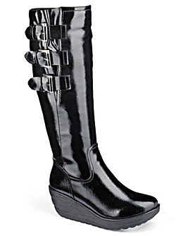 Heavenly Soles Patent Boots D Fit