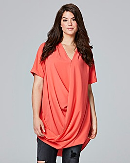 AX Paris Wrap Tunic Top