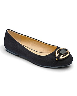 Heavenly Soles Trim Ballerinas E Fit