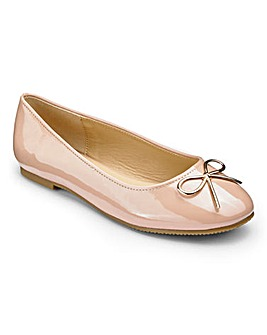 Heavenly Soles Bow Ballerinas D Fit