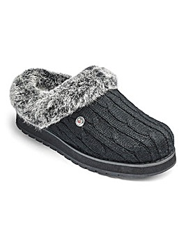 Skechers Warmlined Knit Mule Slippers