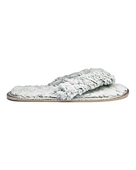 Heavenly Soles Jewel Toe Post Slippers