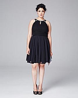 AX Paris Curve Embellished Prom Dress