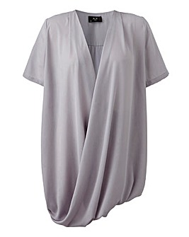 AX Paris Curve Wrap Tunic Top