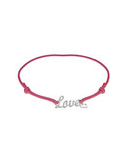 Sterling Silver Cord &Love Bracelet