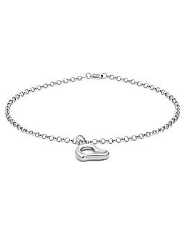 9Ct Gold Floating Heart Bracelet