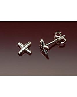 Sterling Silver Kiss Stud Earrings