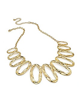Gold Effect Oval Chain Necklace