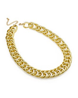 Chunky Shiny Gold Effect Chain Necklace