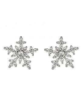Crystal Set Snowflake Earrings
