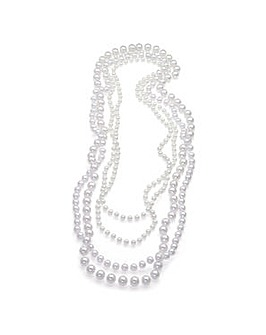 Four Piece Faux Pearl Necklace Set