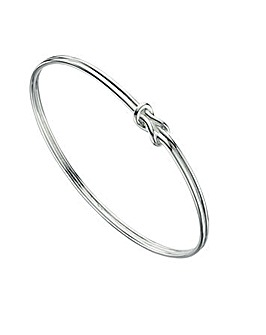 Love Knot Oval Bangle