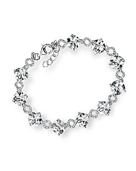 Cushion Cut Cubic Zirconia pave Bracelet