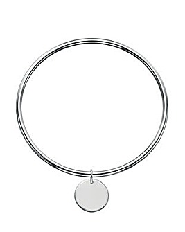 Plain Disc Tag Bangle