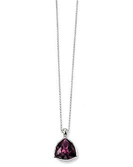 Triangle Amethyst Crystal Pendant