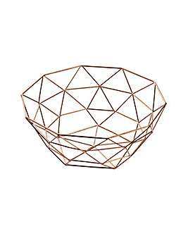 Rose Gold Wire Fruit Bowl