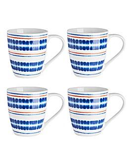Portmeirion Drift Away Set of 4 Mugs